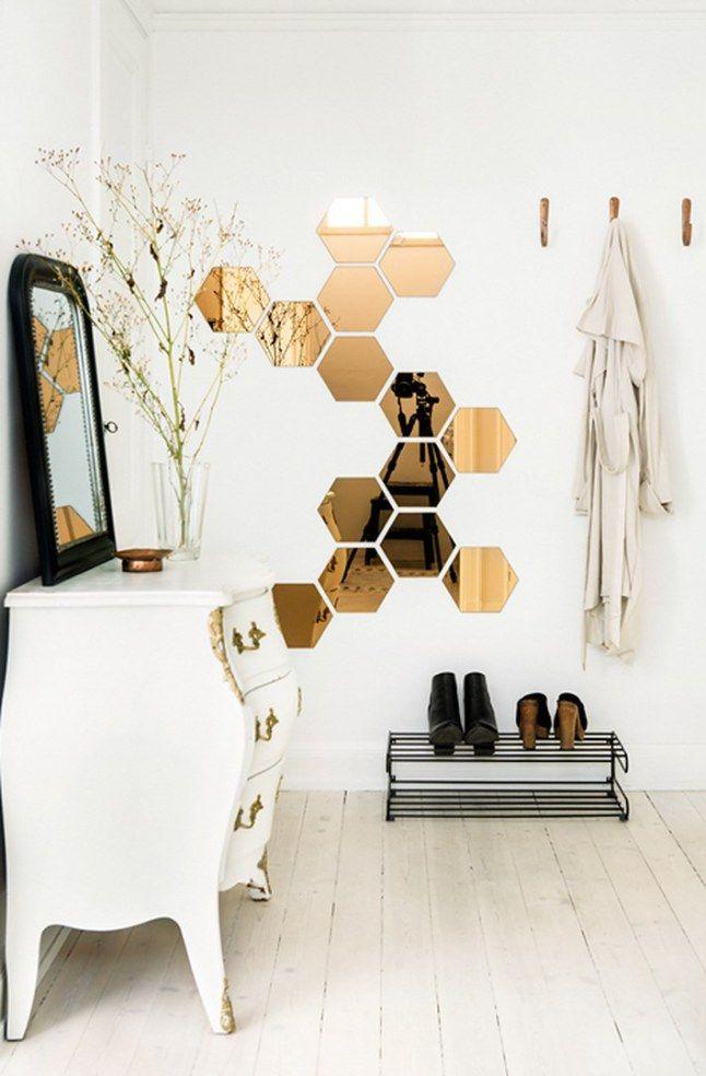 les 25 meilleures id es de la cat gorie miroir hexagonal sur pinterest miroir hexagonal en. Black Bedroom Furniture Sets. Home Design Ideas