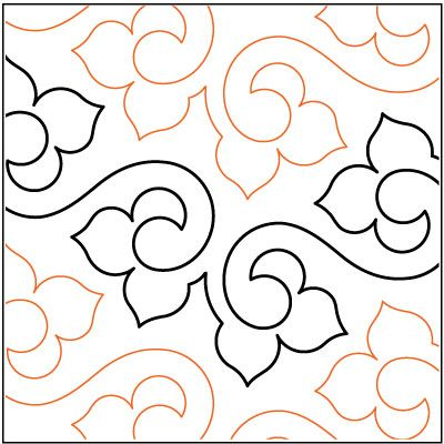 Machine Quilting Patterns | Lithe-quilting-pantograph-pattern ... : pantograph patterns for quilting - Adamdwight.com