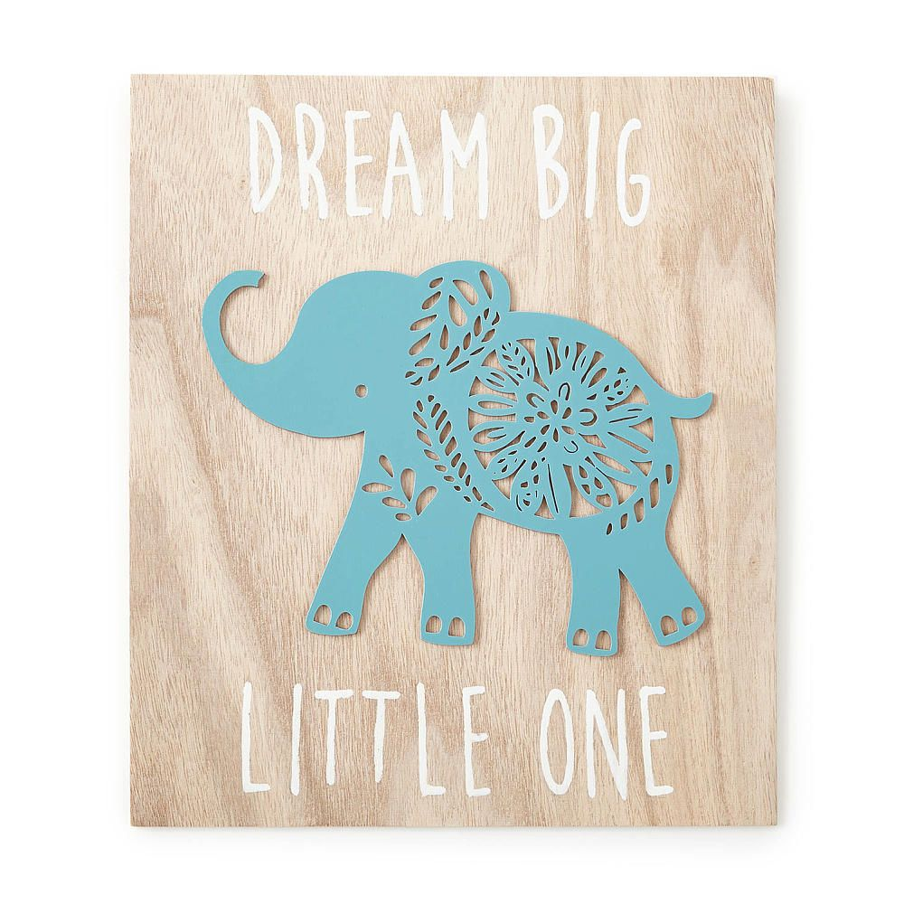 The Zahara Wooden Wall Art Adds Color And Interest To The Nursery