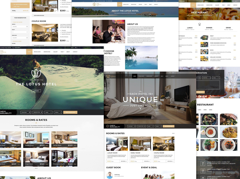 Lotus Hotel Booking WordPressTheme ReadySliderpart
