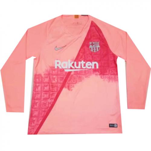 detailed look f94e6 9b03e 18/19 #barcelona Third Away Pink Long Sleeve Jersey Shirt ...