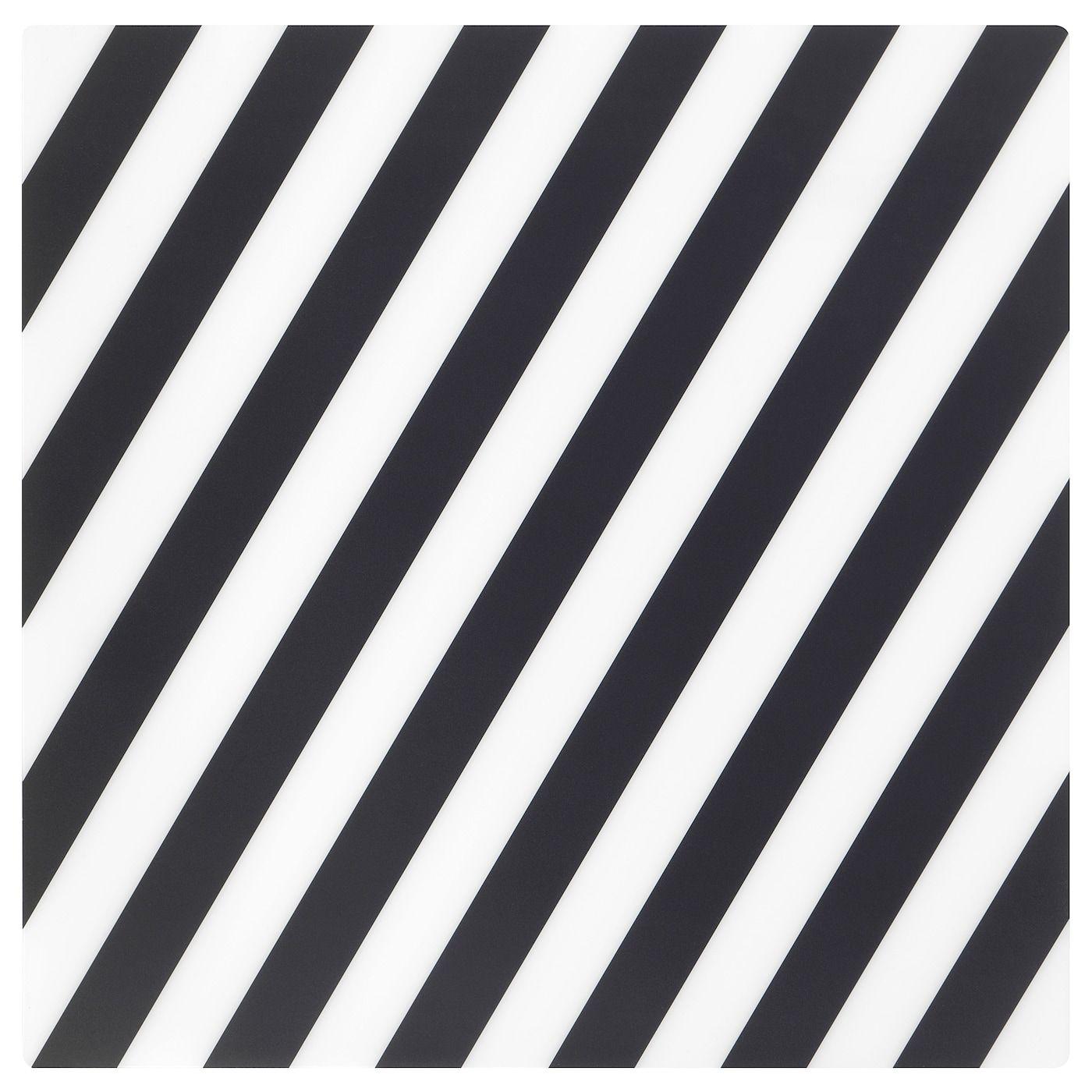 PIPIG Place mat - striped/black/white - IKEA