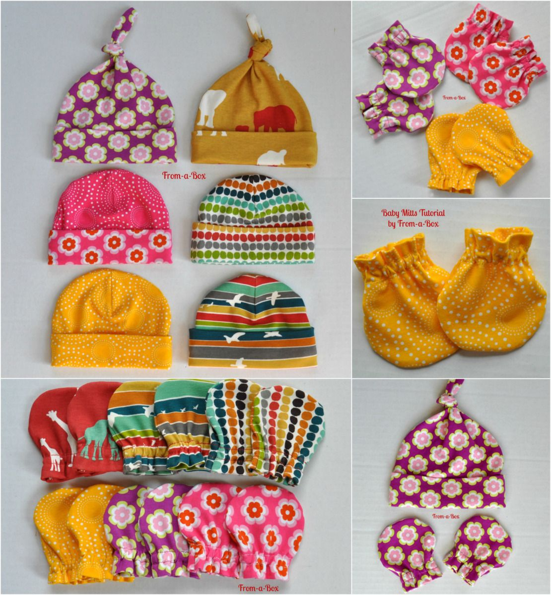 Baby mitts and caps for baby shower gift sewing for children baby mitts and caps for baby shower gift jeuxipadfo Image collections