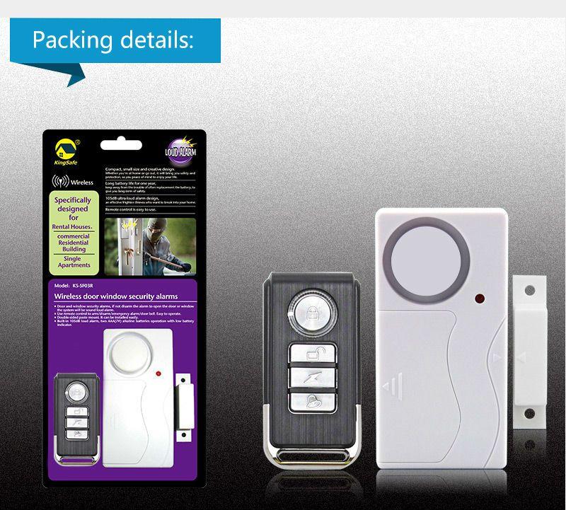 Wireless Porte E Finestre di Sicurezza ABS Sensore Porta Telecomando Senza Fili Ospite Dell'allarme Antifurto Sistemi di Allarme