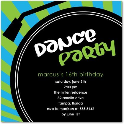 Teen dance party invitations rockin birthday party pinterest check out these pop song and rock music party invitations unique birthday theme that will be a smashing success great for boys girls and teen parties stopboris Image collections
