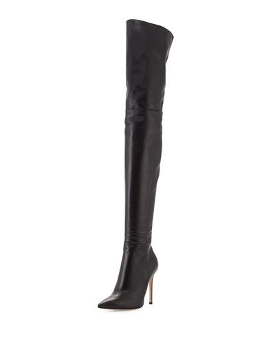 Gianvito Rossi Leather Over-the-Knee Boot - Perfect for fall!