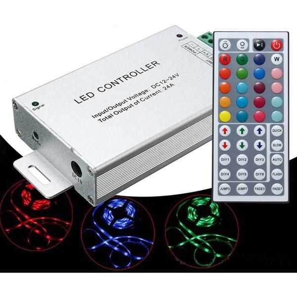 24a 288w 44 Key Ir Remote Controller For Rgb Smd5050 3528 Led Strip Light Lamp Dc12 24v Led Strip Lighting Led Strip Lamp Light