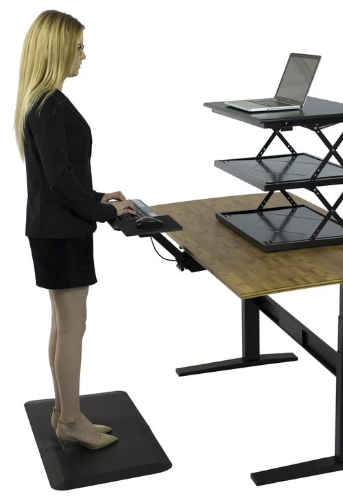 Kt2 Adjustable Standing Desk Keyboard Tray Ergonomic Keyboard