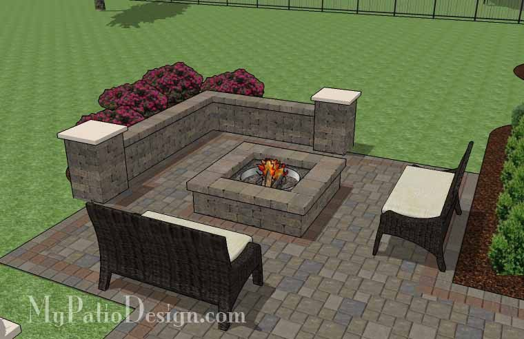535 sq. ft. - Fun Fire Pit Patio Design with Seat Walls | 6' Corner Fun Backyard Ideas Patio Design on affordable backyard patio ideas, private backyard patio ideas, easy backyard patio ideas, drawing backyard patio ideas, inexpensive backyard patio ideas, redneck backyard patio ideas,
