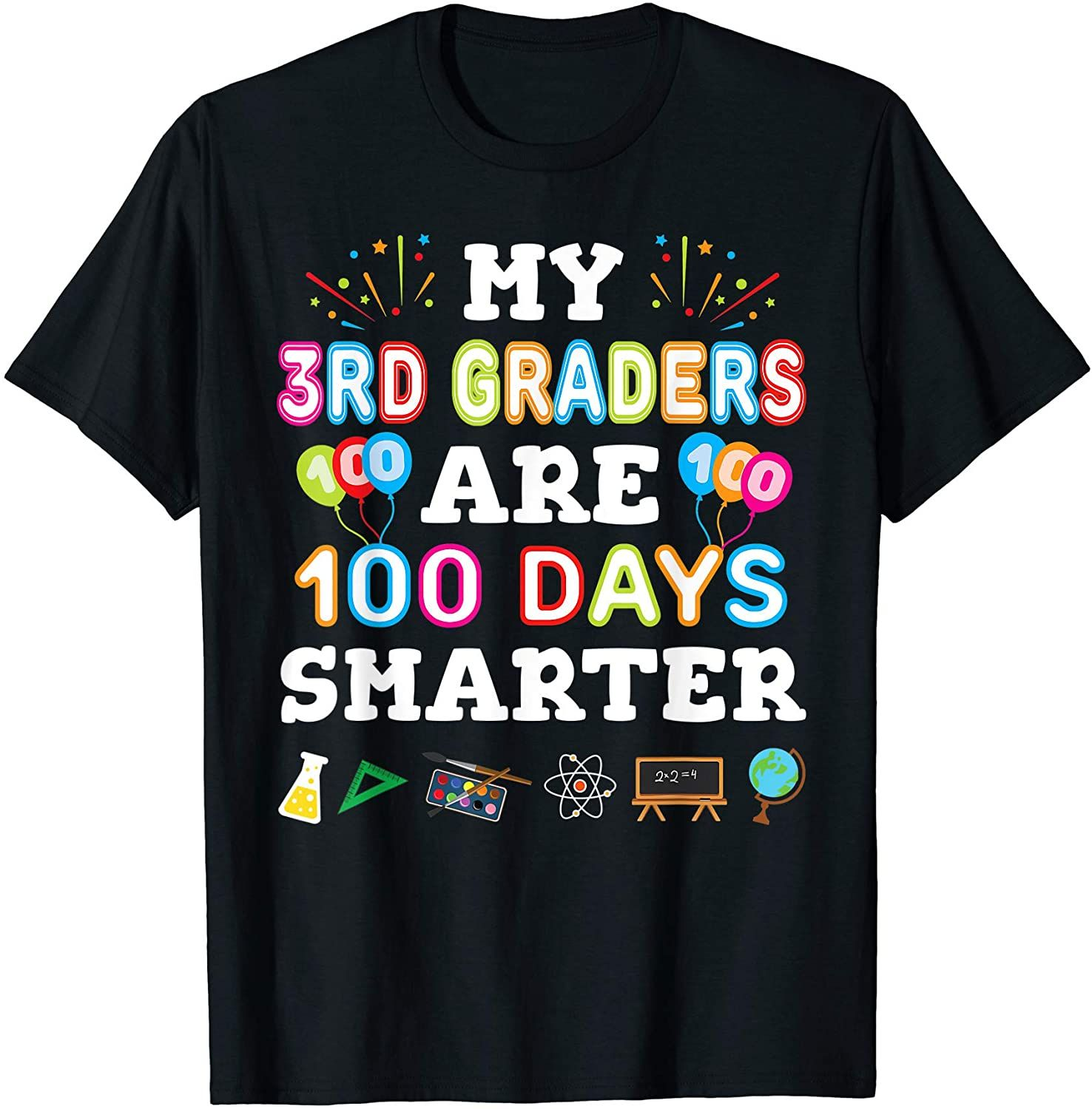 100th Day Of School T For 3rd Grade Teacher T Shirt In