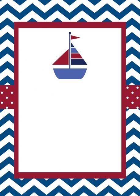 Invitaciones De Nautica Marinero Cumpleaños Marinero