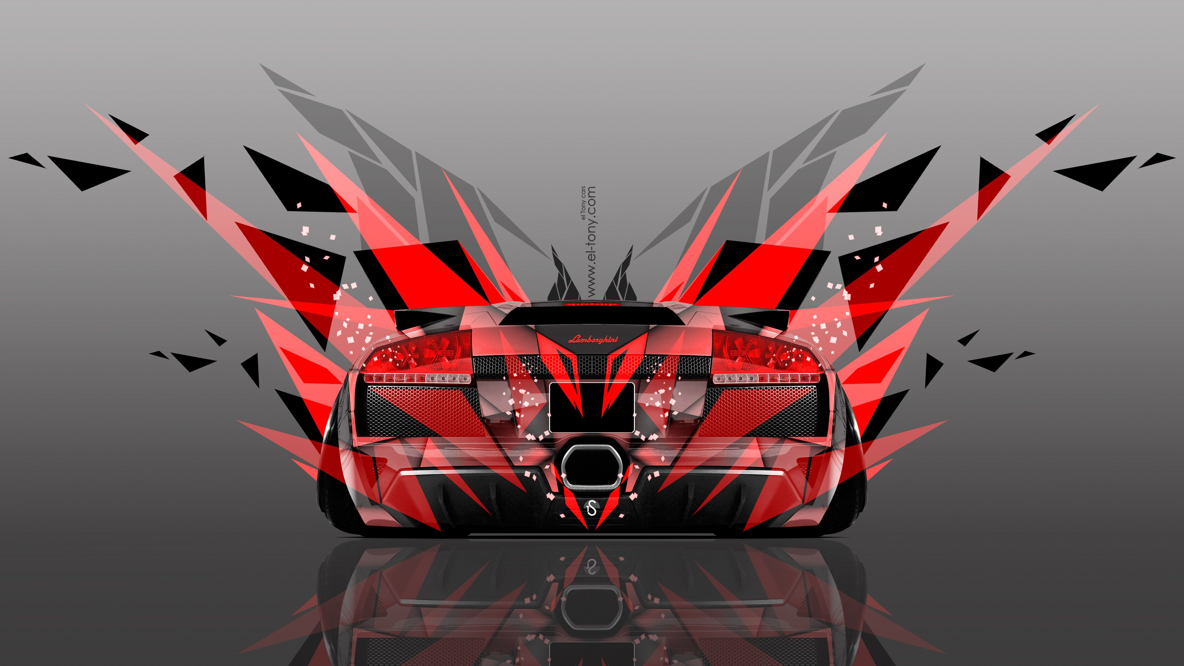 Wonderful Lamborghini Gallardo Back Abstract Car Design By Tony Kokhan Wallpapers) U2013  HD Desktop Wallpapers