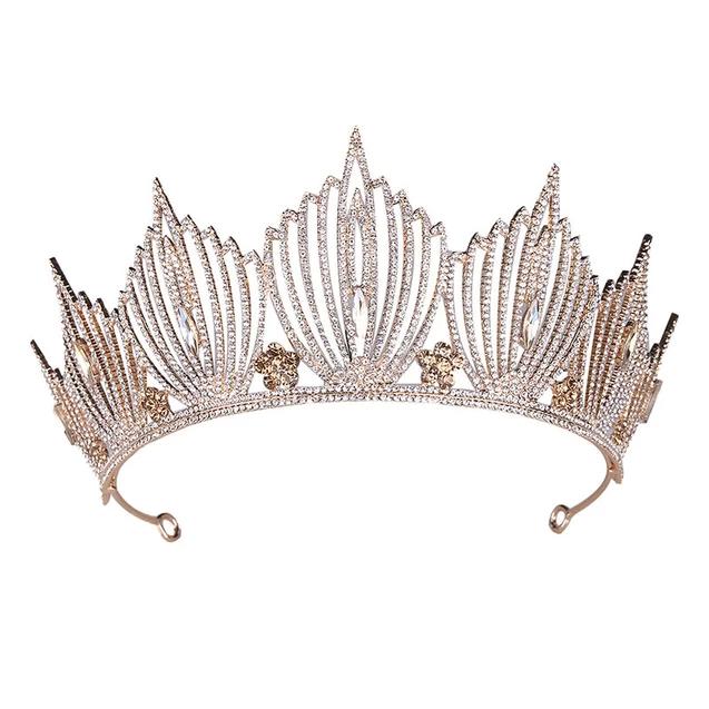 Silver Gold Princess Wedding Or Prom Crystals Crown Crystal Crown Wedding Wedding Crown Tiara Bridal Hair Headpiece