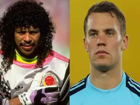 Manuel Neuer vs Rene Higuita skills porteros locos - YouTube