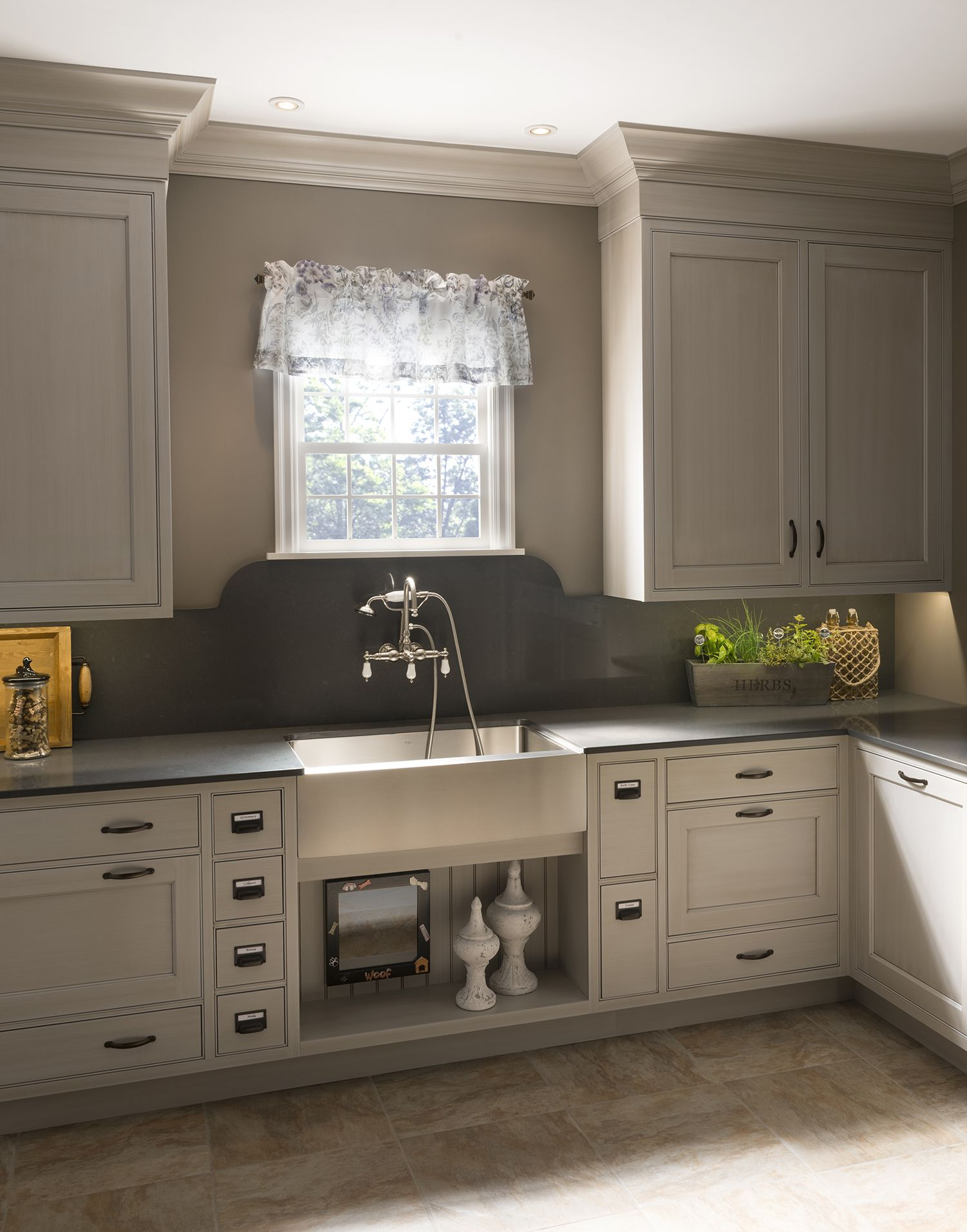 Coronado Recessed Door Style Shown In Vintage Dover Cliffs Finish On Maple Wood Mode Kitchen Copper Pots Kitchen