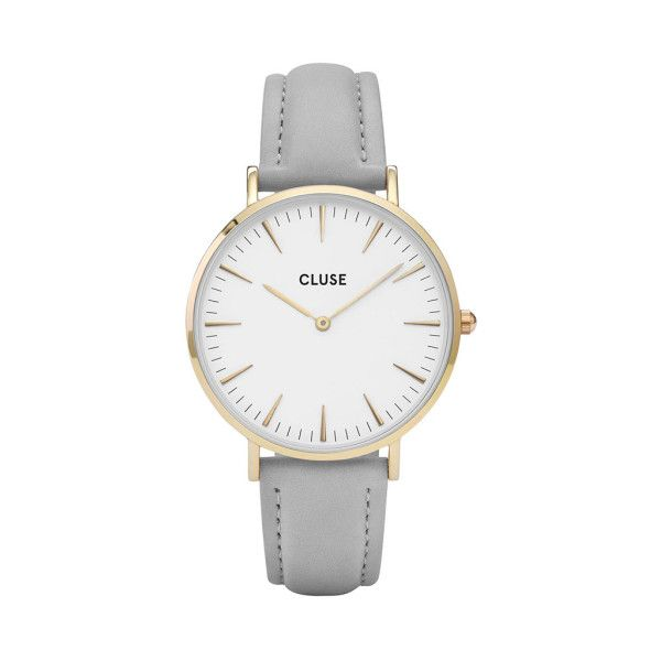 Cluse La Boheme Gold Watch With A Grey Strap 915 Sek Liked On Polyvore Featuring Jewelry Watches Gold Jewellery Bohemian St Klocka Smycken Minimalistisk