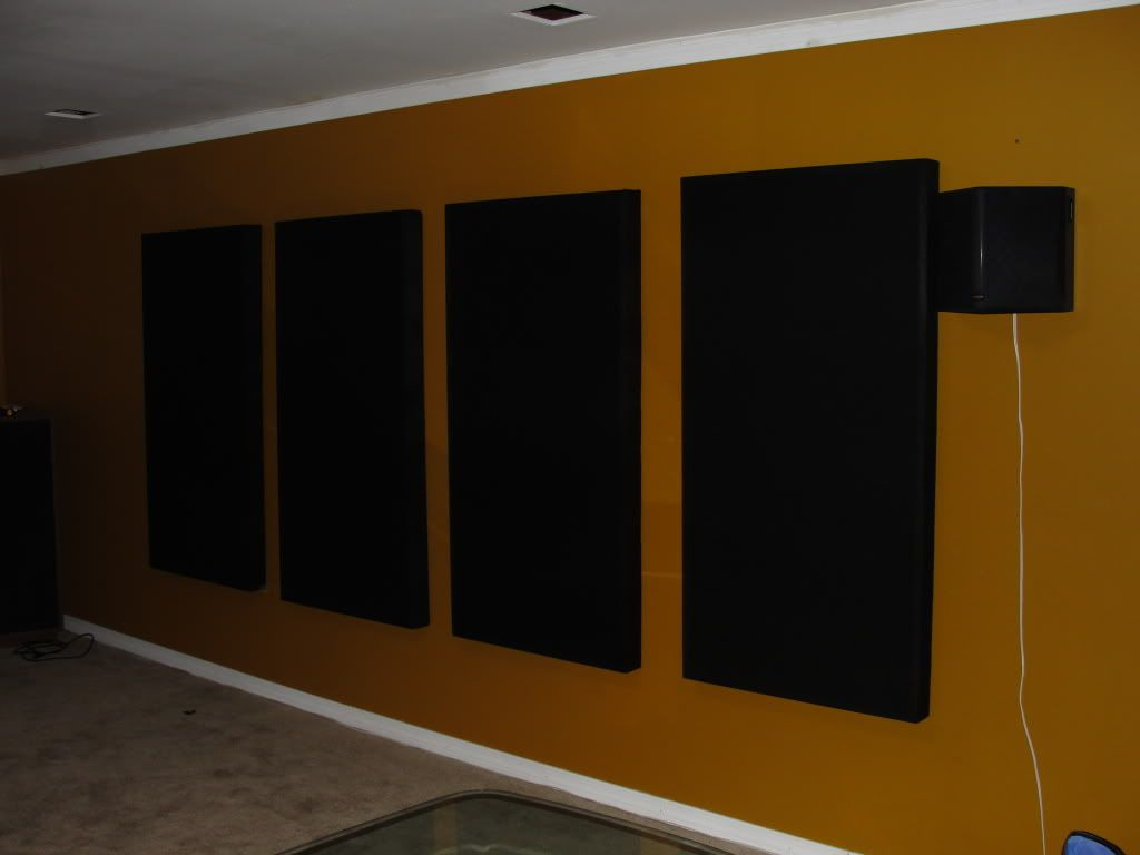1024 768 acoustic treatment for the for Sound proof wall padding