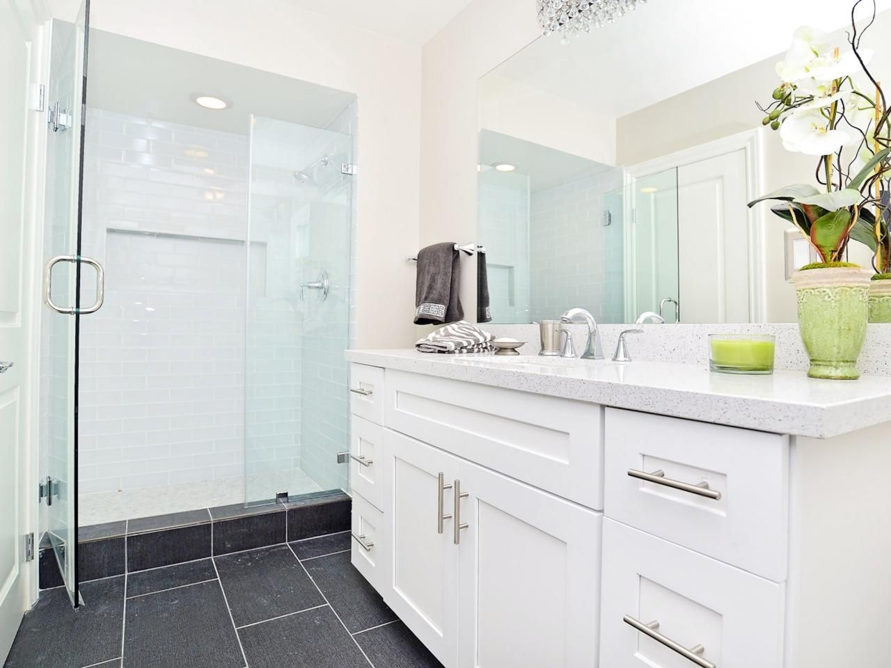Bathroom Makeovers With White Cabinets bathroom countertop material options | bathroom makeovers