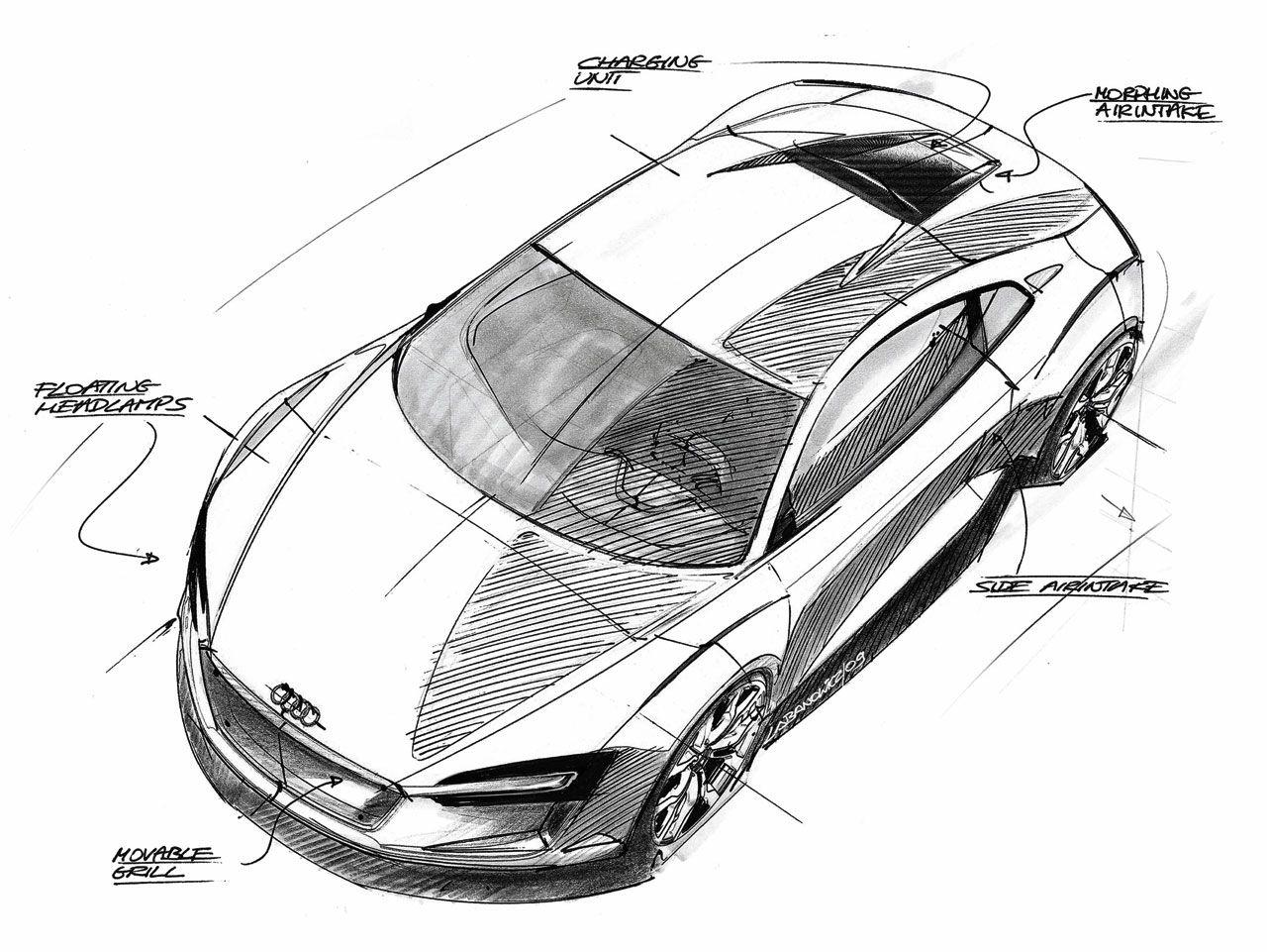 Audi E Car Concept Sketch