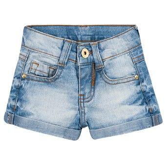Short jeans infantil menina - Milon  daf2e6e8625