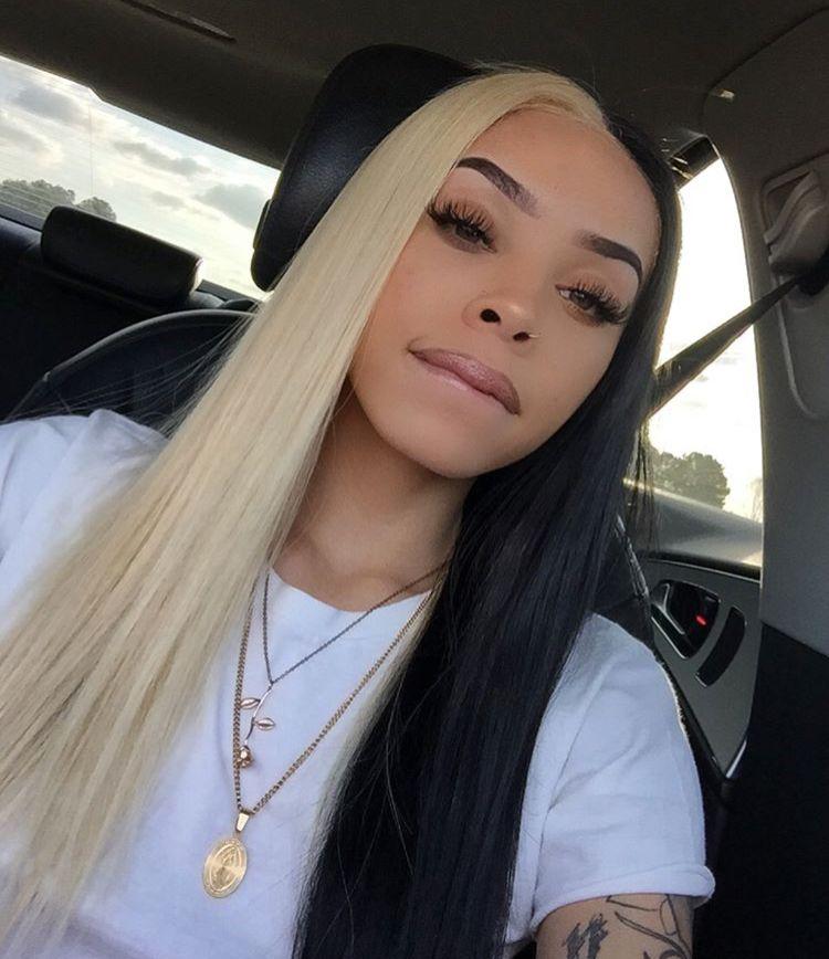 Half Blonde Half Black Weave Brown Hair Dye Hair Styles Human Hair Color
