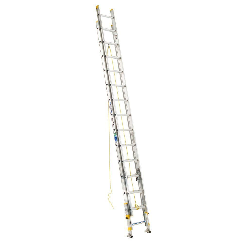 20' Ladder Home Depot Werner 20 Ft Aluminum D Rung Equalizer Extension Ladder