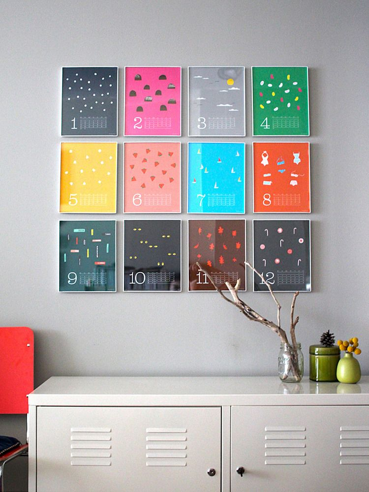 Framed Monthly Calendars. Great idea for a home office! | studio ...