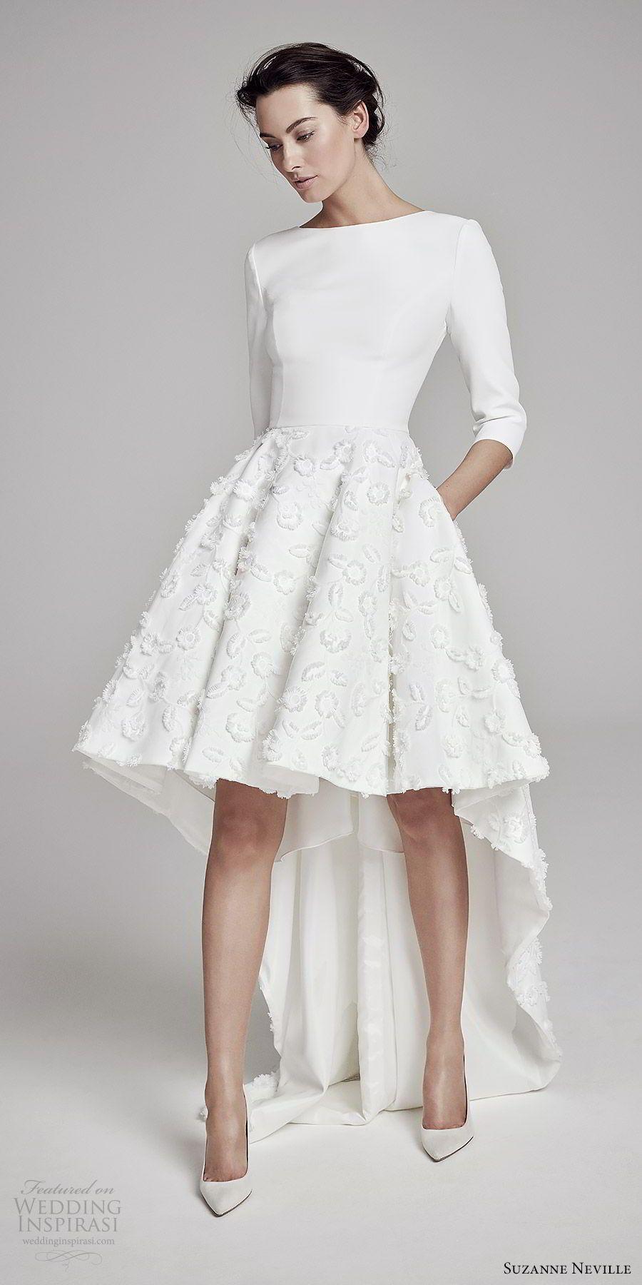 Suzanne Neville 2019 Wedding Dresses Wedding Inspirasi Wedding Dresses High Low Hem Wedding Dress Short Wedding Dress [ 1800 x 900 Pixel ]