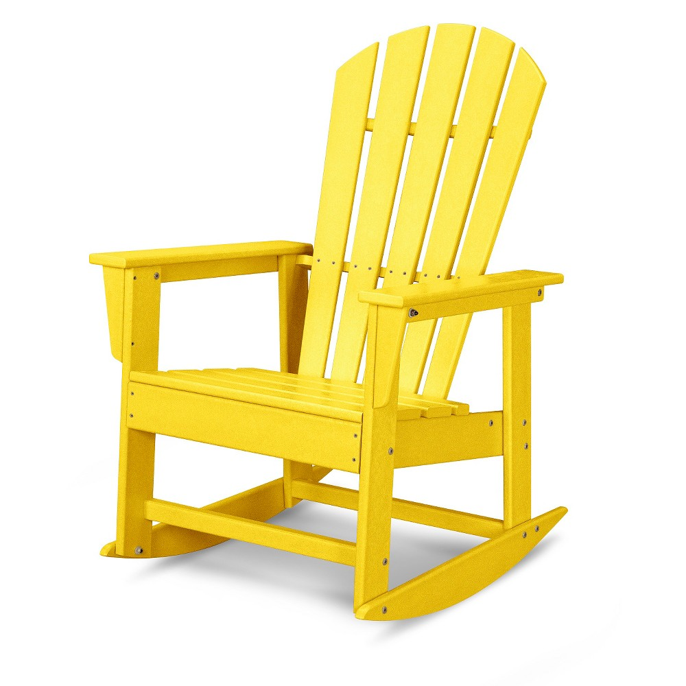 POLYWOOD South Beach Patio Rocking Chair Yellow Patio