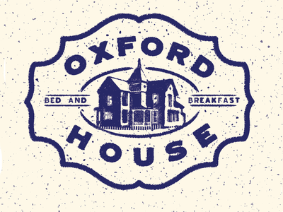 Oxford House Bed And Breakfast Branding design logo
