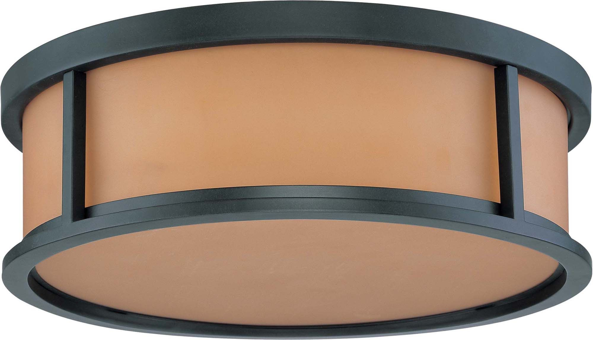 Nuvo Odeon ES - 3 Light 15 inch Flush Dome w/ Parchment Glass - (2) 13w GU24 Lamps Included