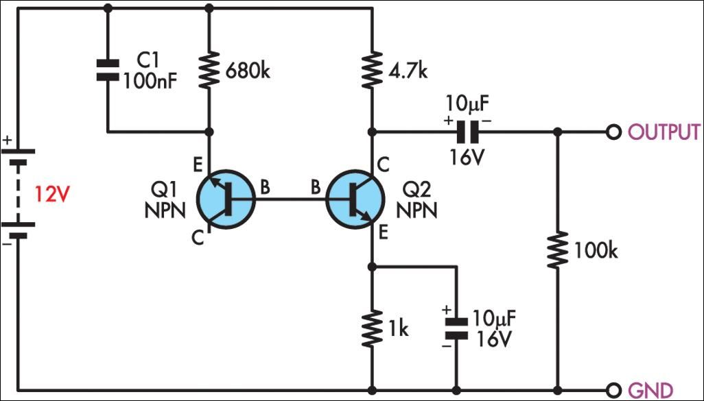 simple electric generator. Simple White Noise Generator Circuit Diagram Electric