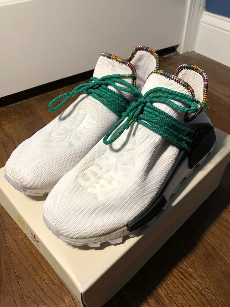 Mens Adidas NMD Human Race Inspiration Pack White Size 9.5