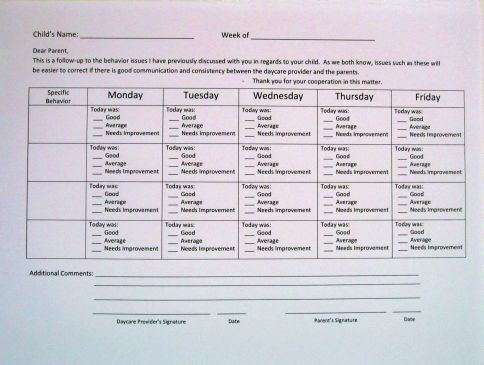 Free Daycare Forms And Sample Documents Flowers Pinterest