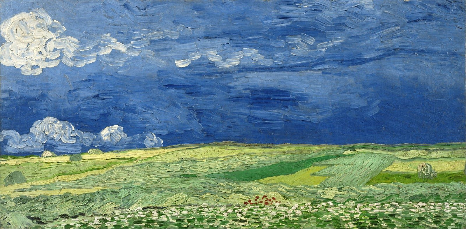 """Vincent Van Gogh Wheat Field with Cypresses near Eygalieres 20/""""x26/""""  on Canvas"""