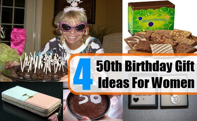 Four 50th Birthday Gift Ideas For Women