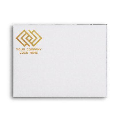Your Company Logo Front Print Note Card Envelope Envelopes