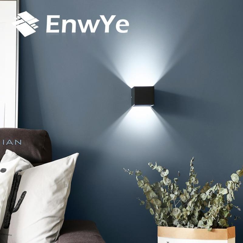 Enwye 12w Led Aluminium Wall Light Rail Project Square Led Wall