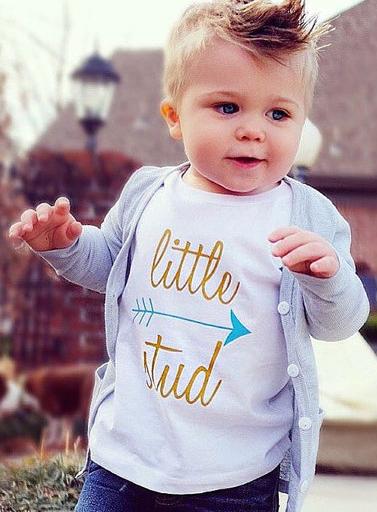 Little Stud Kids T Shirt Cute Toddlers Toddler Boy