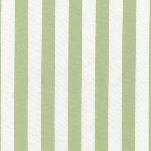 Green Stripe Fabric By The Yard And White