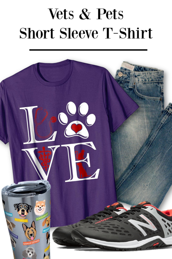 e82d975d Veterinary Medicine Is Love Funny Cute Graphic T Shirt Perfect Gift for Veterinarian  Vet Student or Vet Tech Student tees for your favorite pet doctor or ...