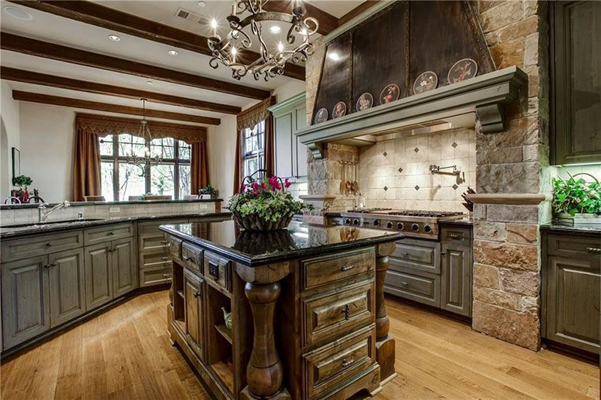 48 Luxury Kitchens With Dark Cabinets Design Ideas House Amazing Antique Black Kitchen Cabinets