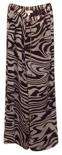 Michael by Michael Kors Wide Leg Pants Brown zebra print