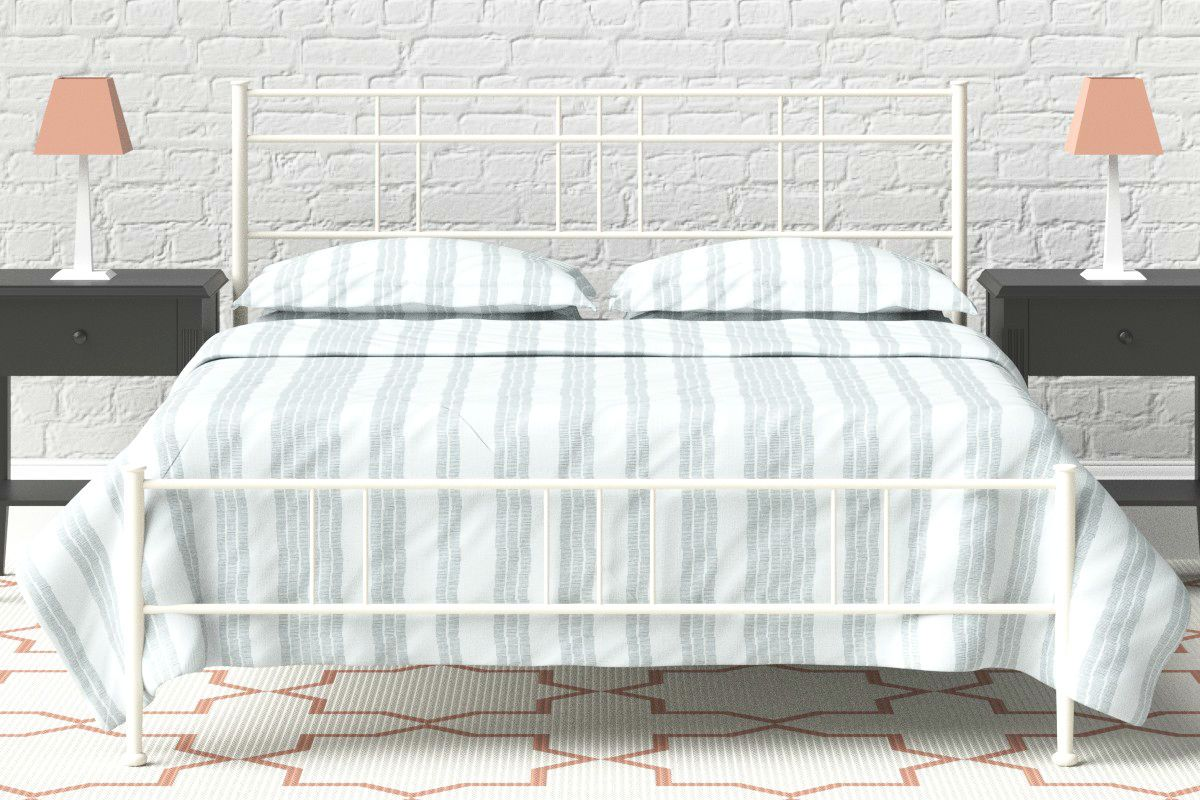 Double Cast iron Bed Frame in Ivory   Cally Bed   Wrought / Cast ...