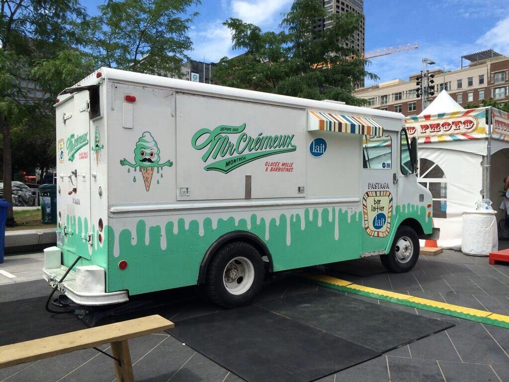 Vintage Mr Cremeux Montreal Ice Cream Truck Ice Cream Truck Food Truck Recreational Vehicles
