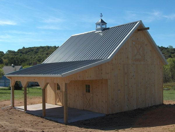 Pole buildings with living quarters equine pole barns for Small pole barn house plans
