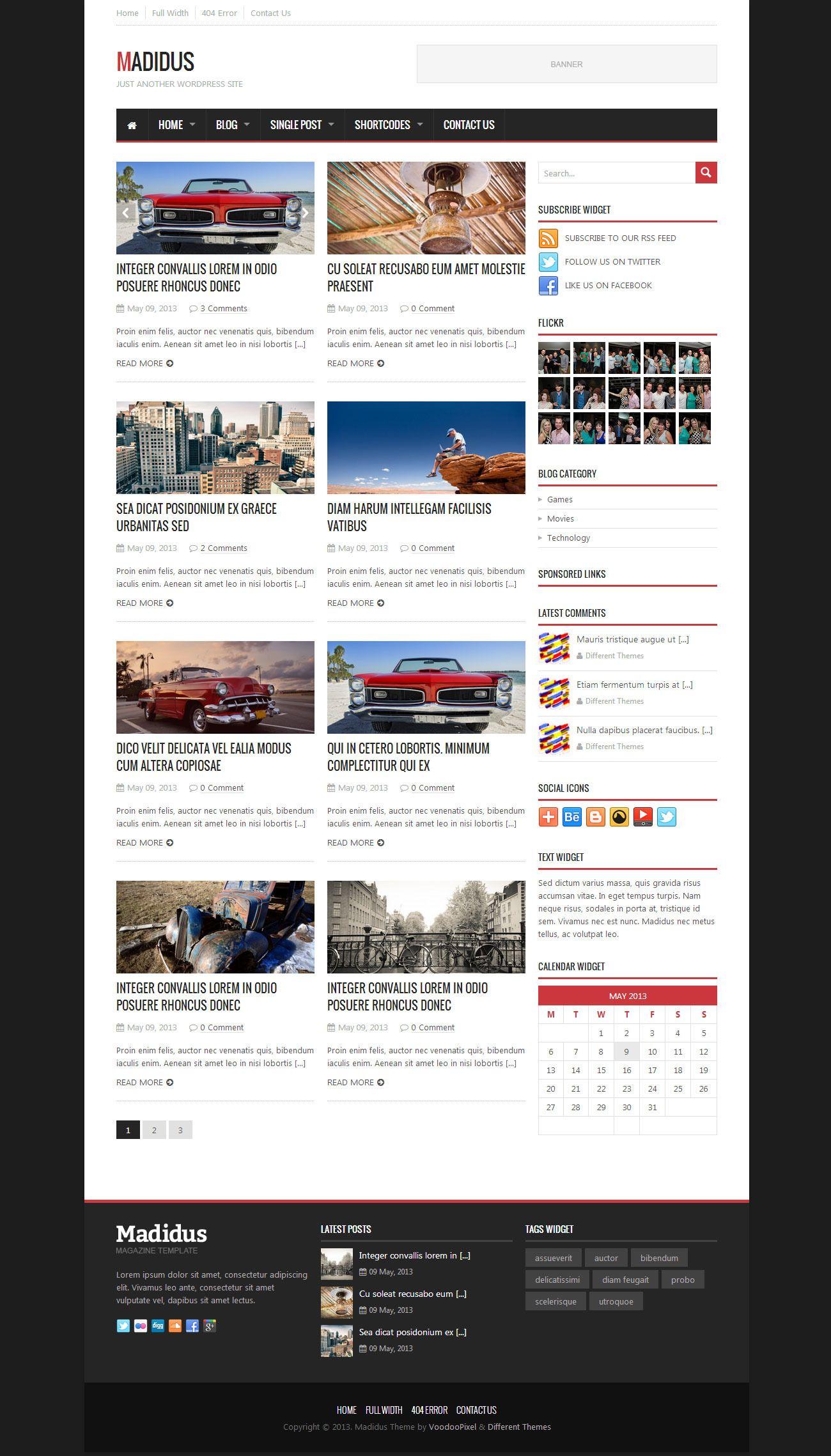 Madidus - Blog & Magazine Theme - News / Editorial Blog / Magazine ...