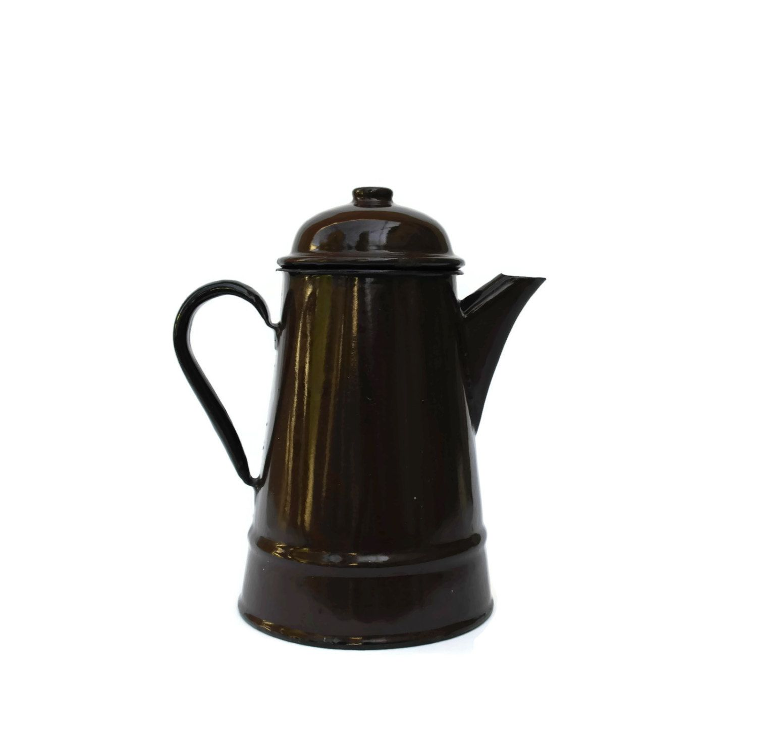 Vintage French Enamelware Coffee Pot. French Country Kitchen Decor ...