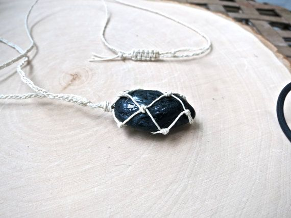 Black Tourmaline Healing Crystal Necklace -- Love the way this one turned out. This crystal is awesome! Black Tourmaline is always slightly magnetic and is known as an incredible protection stone.