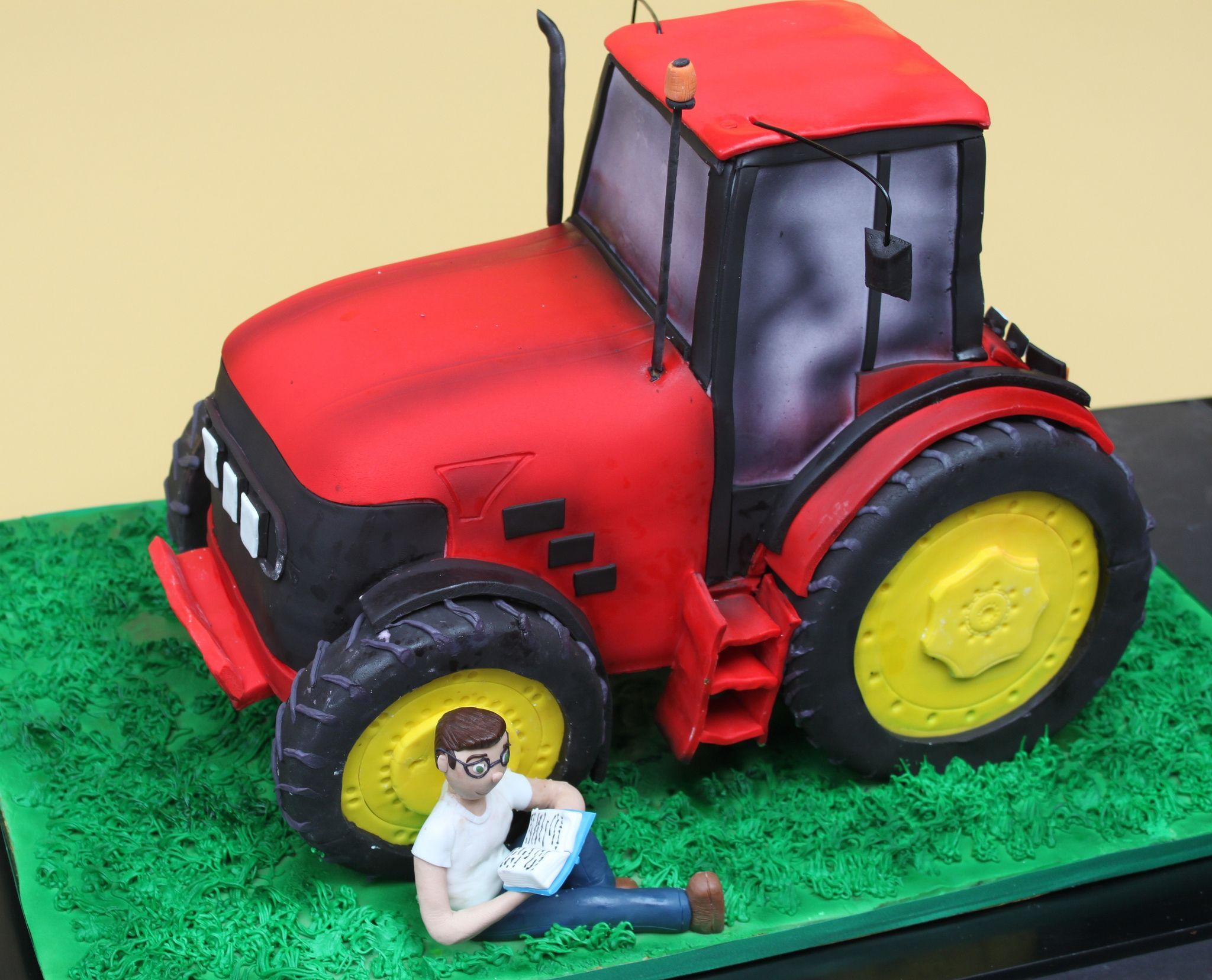 Торт трактор с прицепом фото